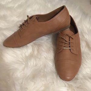 ALDO brand, tan, Oxford dress shoes.